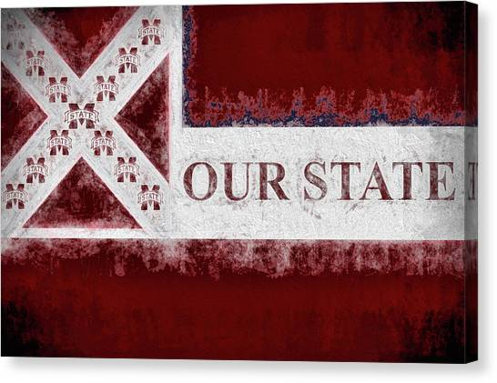 Mississippi State University Canvas Print - Our State by JC Findley
