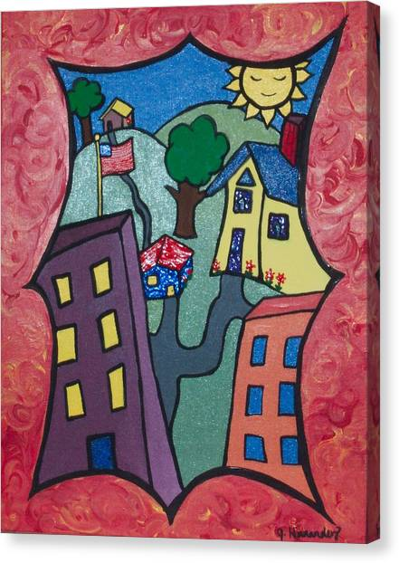 Our Town Canvas Print by Jennifer Hernandez