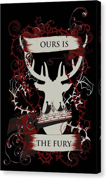 Canvas Print featuring the digital art Ours Is The Fury by Christopher Meade
