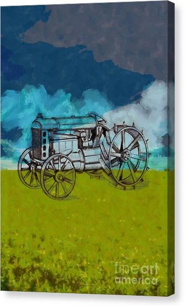 John Deere Canvas Print - Out In The Field by Edward Fielding