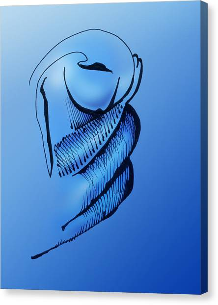 Canvas Print featuring the drawing Out Of The Blue Aventurine by Keith A Link