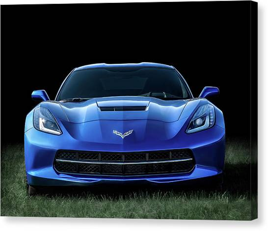 Chevy Canvas Print - Out Of The Blue by Douglas Pittman