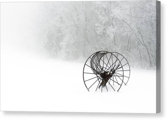 Out Of The Mist A Forgotten Era 2014 II Canvas Print