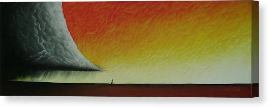 Out Of The Storm...see Poem In Description Canvas Print