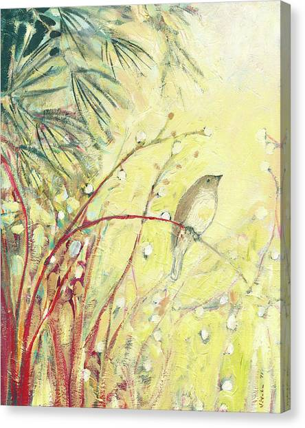 Sparrows Canvas Print - Out On A Limb by Jennifer Lommers