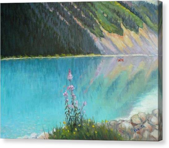 Out On Lake Louise Canvas Print