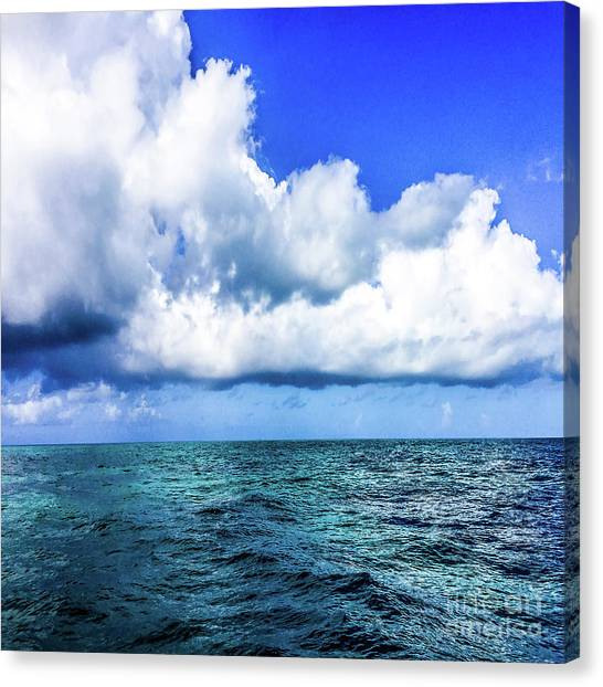 Out On The Open Sea Canvas Print