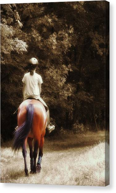 Out On The Trail Canvas Print by JAMART Photography