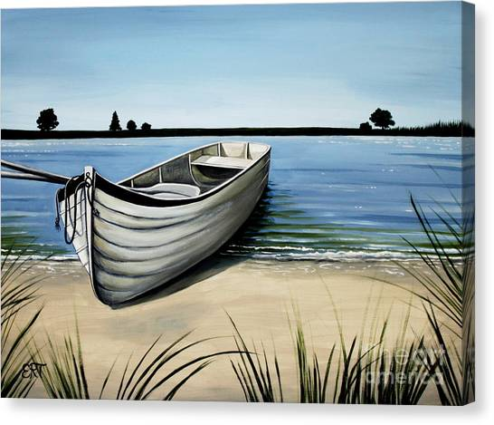 Out On The Water Canvas Print