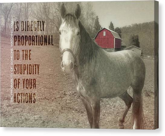 Out To Pasture Quote Canvas Print by JAMART Photography