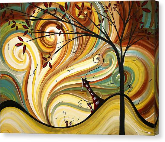 Buildings Canvas Print - Out West Original Madart Painting by Megan Duncanson
