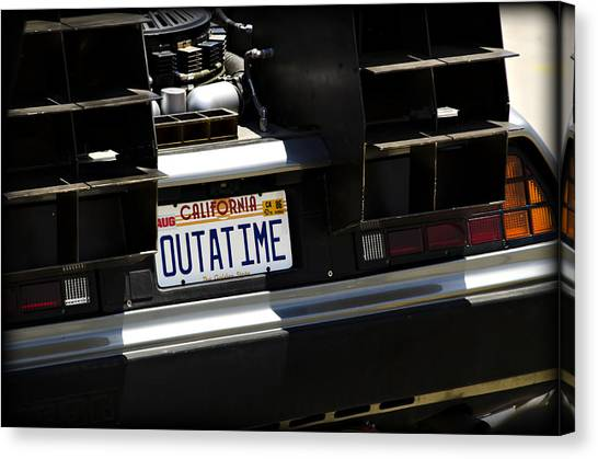Back To The Future Canvas Print - Outatime by Ricky Barnard