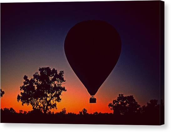 Outback Balloon Launch Canvas Print