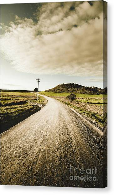 Dirt Road Canvas Print - Outback Gravel Track by Jorgo Photography - Wall Art Gallery