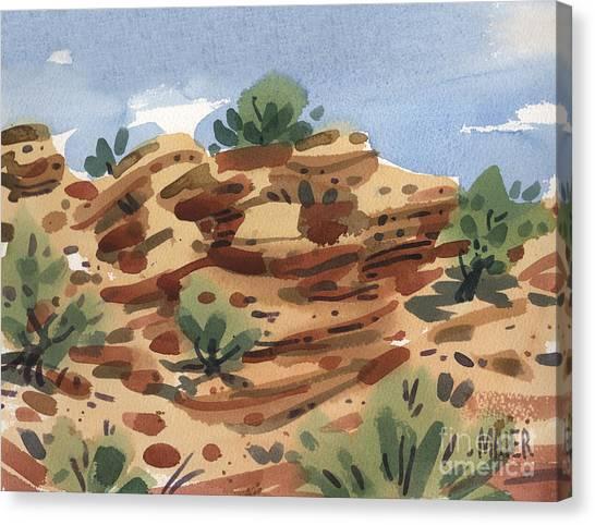 Outcrop Canvas Print by Donald Maier