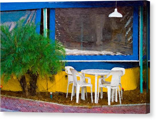 Outdoor Cafe  Canvas Print