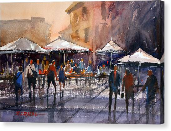 Outdoor Market - Rome Canvas Print