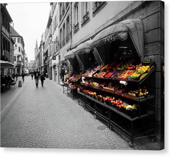 Outdoor Market Canvas Print