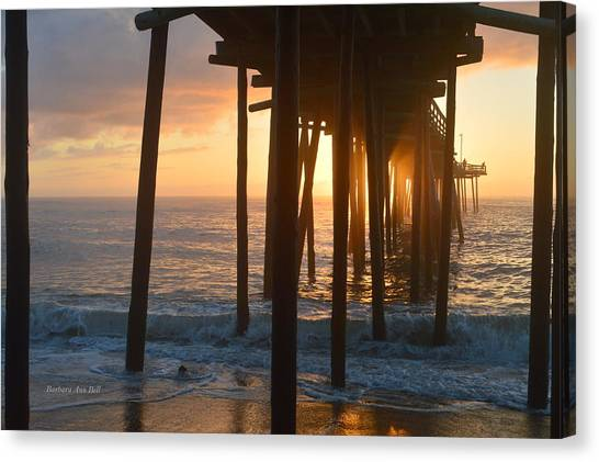 Canvas Print featuring the photograph Outer Banks Pier 7/6/18 by Barbara Ann Bell