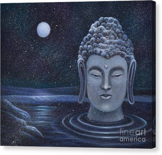 Winter Buddha Canvas Print