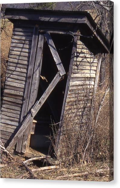 Outhouse1 Canvas Print by Curtis J Neeley Jr