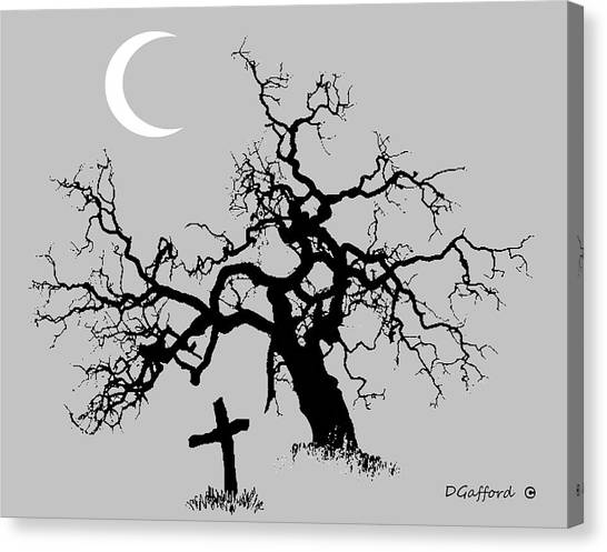 Outlaw Grave Canvas Print by Dave Gafford