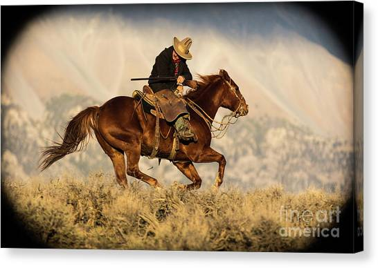 Outlaw Kelly Western Art By Kaylyn Franks Canvas Print