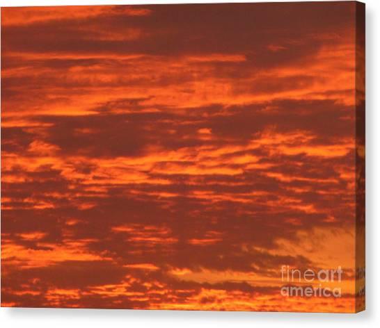 Outrageous Orange Sunrise Canvas Print