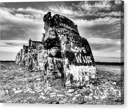 Installation Art Canvas Print - Outside Amarillo by DiFigiano Photography
