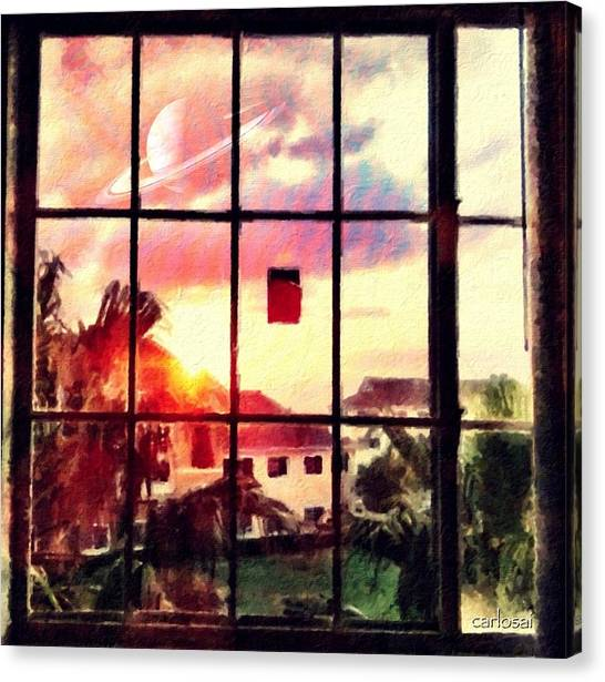 Outside My Window... Canvas Print