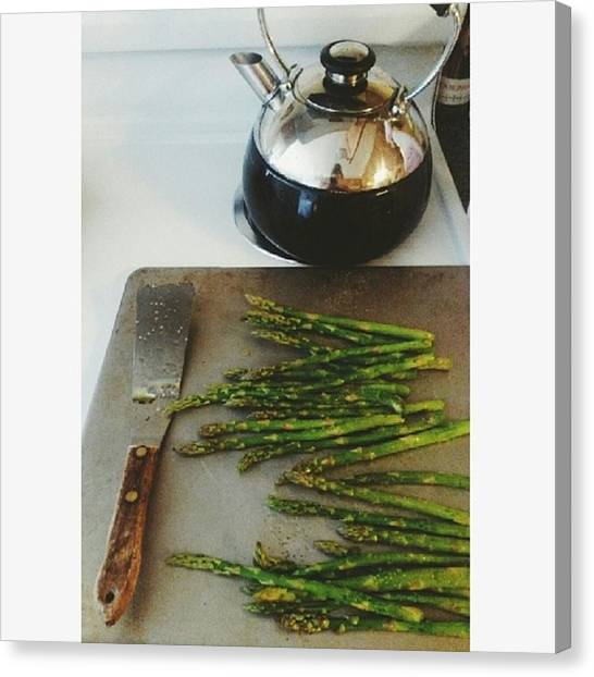 Asparagus Canvas Print - Oven Roasted Asparagus ♥ I Could Eat by Amanda Presutto