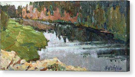 Ural Mountains Canvas Print - Over Chusovaya by Juliya Zhukova