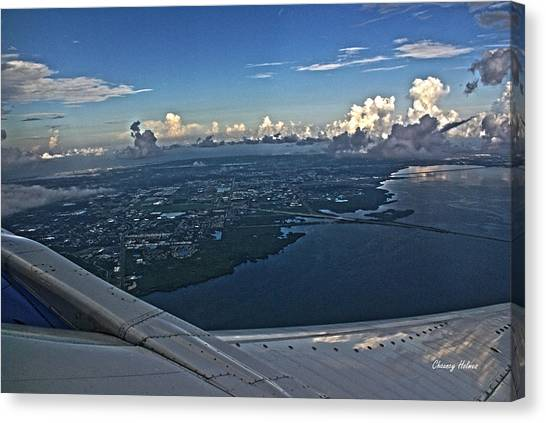 Over Tampa Canvas Print by Chauncy Holmes