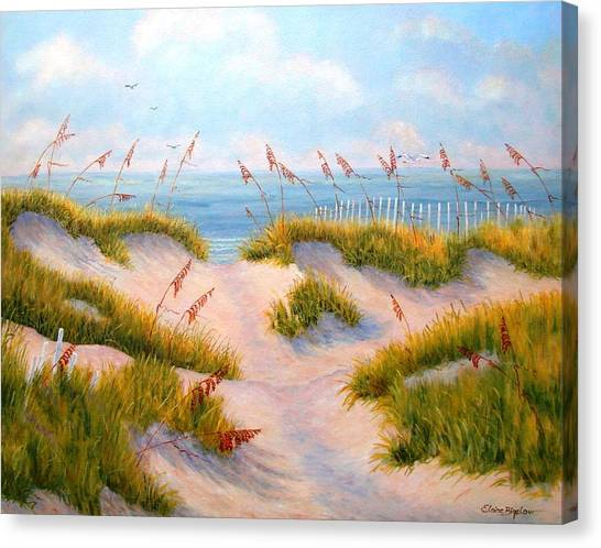 Over The Dunes Canvas Print by Elaine Bigelow