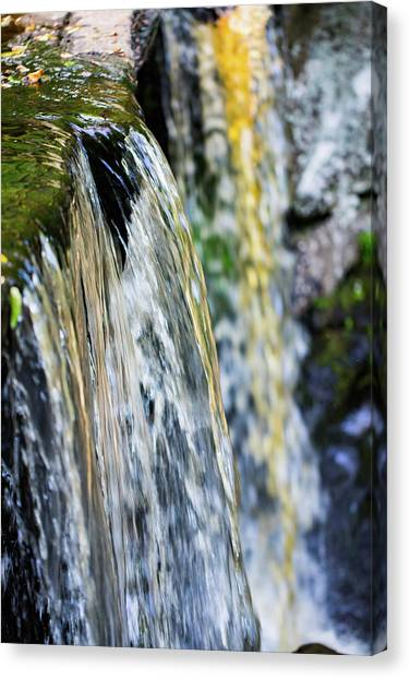 Over The Edge Visions Of Gold Canvas Print
