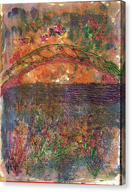 Canopy Canvas Print - Over The River And Through The Woods by Anne-Elizabeth Whiteway