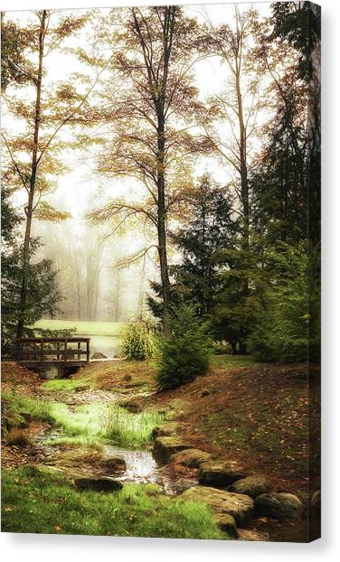 Foggy Forests Canvas Print - Over The River by Tom Mc Nemar