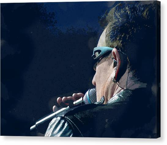 Bono Canvas Print - Over The Shoulder Of Bono by Elaine Plesser