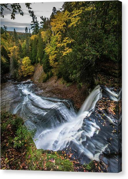 Over The Top - Laughing Whitefish Falls Canvas Print