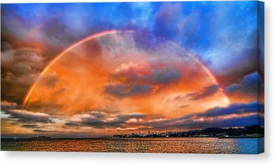 Over The Top Rainbow Canvas Print