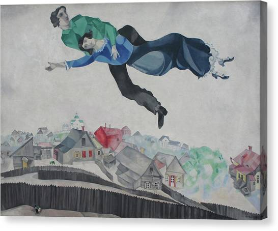 Over The Town Canvas Print by Marc Chagall