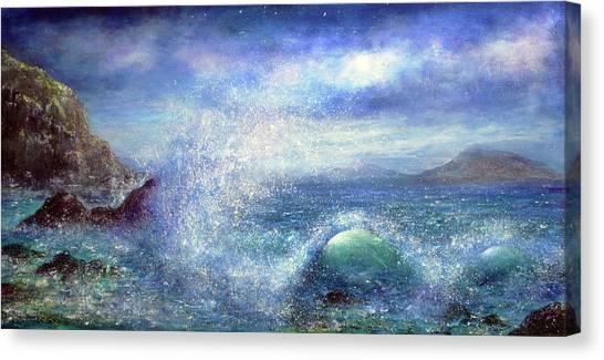 Over The Waves Canvas Print by Ann Marie Bone