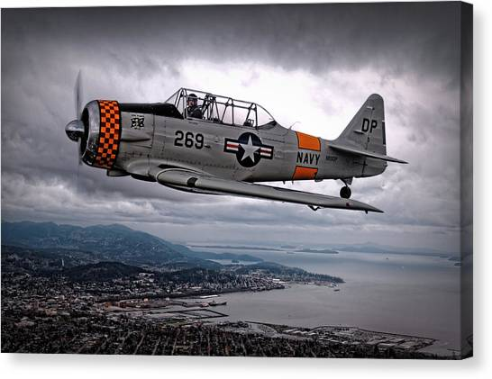 Pilots Canvas Print - Over Under by Thomas T.