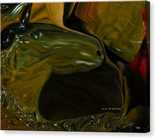Overboard In The Sargasso Canvas Print by Jerry White