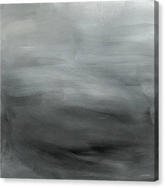 Grey Canvas Print - Overcast Morning- Abstract Art By Linda Woods by Linda Woods