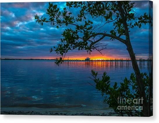 Overcast Sunrise Canvas Print