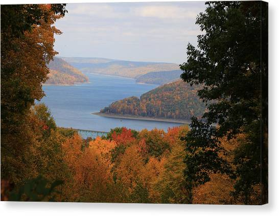 Overlooking Kinzua Lake Canvas Print