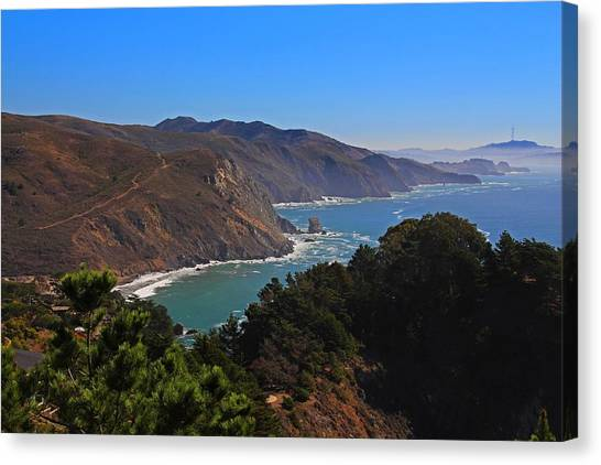 Overlooking Marin Headlands Canvas Print