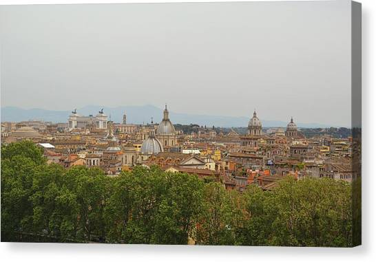 Overlooking Rome Canvas Print by JAMART Photography