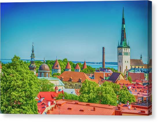 Overlooking Tallinn Canvas Print